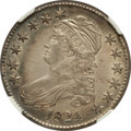 Bust Half Dollars: , 1824 50C AU58 NGC. NGC Census: (182/245). PCGS Population(112/175). Mintage: 3,504,954. Numismedia Wsl. Price for problem...