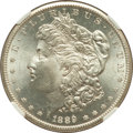 Morgan Dollars: , 1889-S $1 MS64 NGC. NGC Census: (1280/285). PCGS Population(2132/653). Mintage: 700,000. Numismedia Wsl. Price for problem...