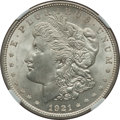 Morgan Dollars, 1921-D $1 Vam-1N, Unicorn MS63 NGC. Hitlist-40. PCGS Population(6/13).. From The Parcfeld Collection...