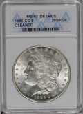 1885-CC $1 --Cleaned--ANACS. MS60 Details. NGC Census: (10/5595). PCGS Population (43/14042). Mintage: 228,000. Numismed...
