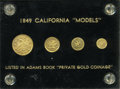 "California Gold Charms, 1849 California ""Models"" 4-Piece Gold Coin Set in Brass.... (Total: 4 items)"