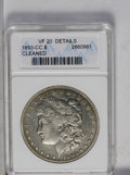 1893-CC $1 --Cleaned--ANACS. VF20 Details. NGC Census: (217/1891). PCGS Population (48/3257). Mintage: 677,000. Numismed...