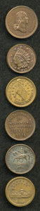 Civil War Patriotics, Civil War Tokens and Related Group Lot.... (Total: 6 pieces)