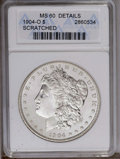 1904-O $1 --Scratched--ANACS. MS60 Details. NGC Census: (13/69702). PCGS Population (50/66982). Mintage: 3,720,000. Numi...