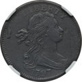 Large Cents, 1797 1C Reverse of 1797, No Stems, S-131, B-27, R.2 --Environmental Damage -- NGC Details. XF. PCGS Pop...