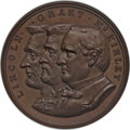 U.S. Presidents & Statesmen, 1900 Lincoln-Grant-McKinley Republican Convention MS65 Brown NGC.King-446. Copper, 44 mm....
