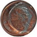 Errors, 1999 1C Lincoln Cent -- Double Struck Obverse Die Cap -- MS66 Red NGC....