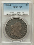 Early Dollars, 1802/1 $1 Wide Date Fine 15 PCGS. B-3, BB-234, R.3....