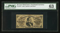 Fractional Currency:Third Issue, Fr. 1291 25¢ Third Issue PMG Choice Uncirculated 63.. ...