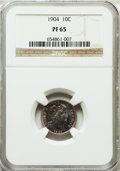 Proof Barber Dimes, 1904 10C PR65 NGC....