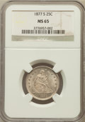 Seated Quarters, 1877-S 25C MS65 NGC....