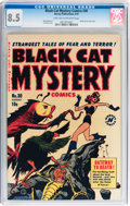 Golden Age (1938-1955):Horror, Black Cat Mystery #30 (Harvey, 1951) CGC VF+ 8.5 Light tan tooff-white pages....