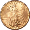 Saint-Gaudens Double Eagles, 1908-D $20 No Motto MS65+ PCGS....