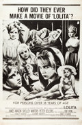 "Movie Posters:Drama, Lolita (MGM, 1962). Alternate Style Poster (40"" X 60"").. ..."