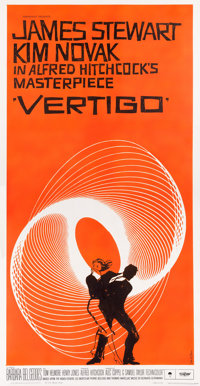 "Vertigo (Paramount, 1958). Three Sheet (41"" X 81"")"