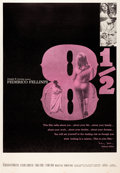 "Movie Posters:Drama, 8½ (Embassy, 1963). Posters (2) (40"" X 60"") Y & Z Styles.. ...(Total: 2 Items)"