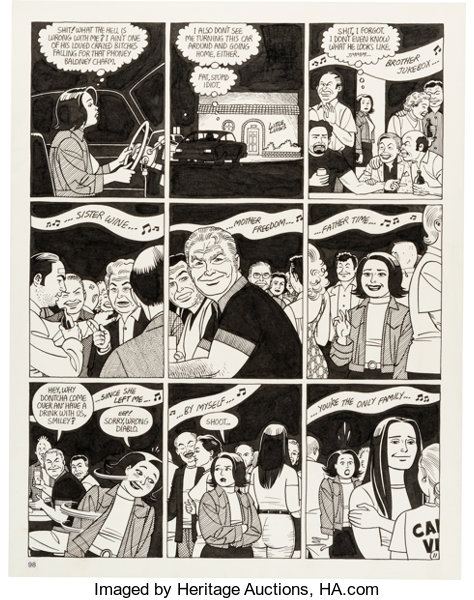 Jaime Hernandez Love and Rockets #47 Story Page 11 Original