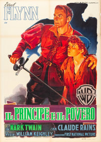 "The Prince and the Pauper (Warner Brothers, R-1951). Italian 2 - Foglio (39"" X 55"") Luigi Martinati Art"