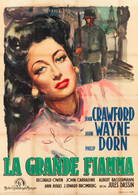 "Reunion in France (MGM, 1949). First Post-War Release Italian 4 - Foglio (45"" X 63"") Ercole Brini Art"