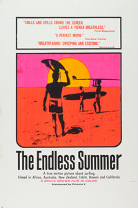 "The Endless Summer (Cinema 5, 1966). Day-Glo Silk Screen Poster (40"" X 60"")"