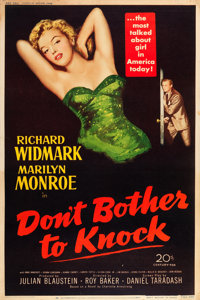 "Don't Bother to Knock (20th Century Fox, 1952). Poster (40"" X 60"") Style Y"
