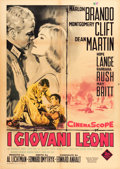 "Movie Posters:War, The Young Lions (20th Century Fox, 1960). Italian 2 - Foglio (39"" X55"") Enzo Nistri Art.. ..."
