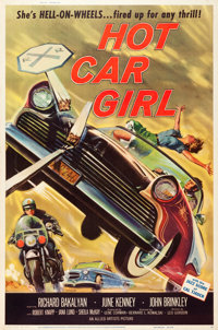 "Hot Car Girl (Allied Artists, 1958). Poster (40"" X 60"")"