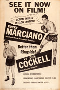"Movie Posters:Sports, Rocky Marciano vs. Don Cockell Fight (United Artists, 1955). Poster(40"" X 60"").. ..."