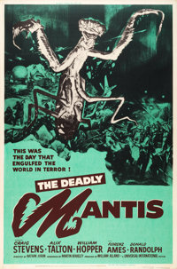"The Deadly Mantis (Universal International, 1957). Poster (40"" X 60"")"