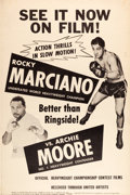 "Movie Posters:Sports, Rocky Marciano vs. Archie Moore Fight (United Artists, 1955). Poster (40"" X 60"").. ..."