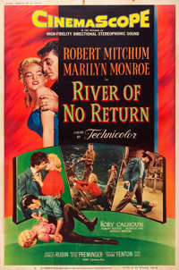 "River of No Return (20th Century Fox, 1954). Poster (40"" X 60"") Style Y"