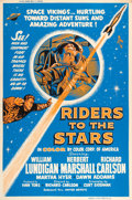"Movie Posters:Science Fiction, Riders to the Stars (United Artists, 1954). Silk Screen Poster (40""X 60"").. ..."