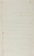 Autographs:Celebrities, William Charles Macready, British Actor. Autograph Letter Signed. Very good....