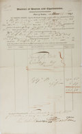 Autographs:Military Figures, [Boston Tea Party] Document Signed by Thomas Melville, Participant in the Boston Tea Party, Revolutionary War and Grandfather ...