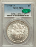 Morgan Dollars: , 1878 8TF $1 MS64 PCGS. CAC. PCGS Population (2418/536). NGC Census:(1972/380). Mintage: 699,300. Numismedia Wsl. Price for...