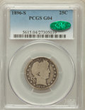 Barber Quarters: , 1896-S 25C Good 4 PCGS. CAC. PCGS Population (177/495). NGC Census:(86/179). Mintage: 188,039. Numismedia Wsl. Price for p...
