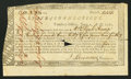Colonial Notes:Connecticut, Connecticut Treasury Office Certificate Handwritten DenominationCross-Cut Cancel June 1, 1780 Very Fine. ...