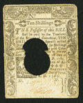 Colonial Notes:Connecticut, Connecticut June 1, 1780 10s Hole Cancel Fine-Very Fine.. ...