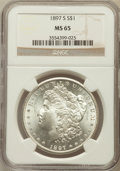 Morgan Dollars: , 1897-S $1 MS65 NGC. NGC Census: (691/120). PCGS Population(1068/256). Mintage: 5,825,000. Numismedia Wsl. Price for proble...