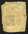 Colonial Notes:Connecticut, Connecticut June 19, 1776 6d Uncancelled Good.. ...