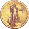 High Relief Double Eagles, 1907 $20 High Relief, Wire Rim -- Cleaning -- Genuine PCGS. Unc. Details....