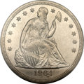 Seated Dollars, 1864 $1 MS63 PCGS. CAC....
