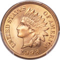 Indian Cents, 1898 1C MS67 Red PCGS. CAC....