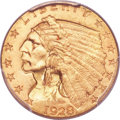 Indian Quarter Eagles, 1928 $2 1/2 MS66 PCGS....