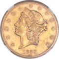 Liberty Double Eagles, 1889-CC $20 AU58 NGC. CAC. Variety 1-A....
