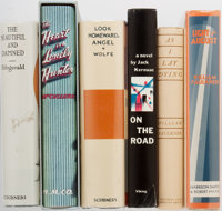 [Literature]. Kerouac, Fitzgerald, Faulkner, and Others. Group of Six Facsimile Edition Books Published by First Edition...