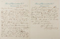 "Autographs:Statesmen, William W. Bowers (1834-1917), American Politician Autograph Letter Signed ""W. W. Bowers"". Two pages, 7.5"" x 9.75"", on H..."