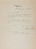 """Autographs:Statesmen, Frank Orren Lowden (1861-1943), American Politician, Typed LetterSigned """"Frank O. Lowden"""". One page, 5.75"""" x 8"""", on his..."""