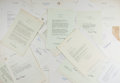 Autographs:U.S. Presidents, Ronald Reagan. Large Lot of 40 Ronald Reagan Typed Letters, Circa1964-1988. Various sizes, on California Governor's letterh...