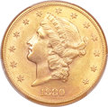 Liberty Double Eagles, 1880-S $20 MS62 PCGS. CAC....